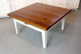 Old Pine Furniture Handmade Rustic Square Farmhouse Coffee Table By Ecustomfinishes