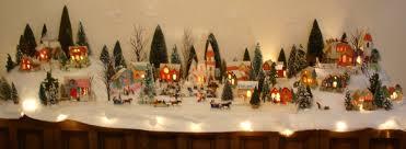 vintage christmas village houses u2013 happy holidays