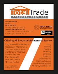 113 economical serious property maintenance business card designs