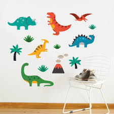 dinosaurs wall stickers decals for kids petit collage dinosaur wall decal zoom