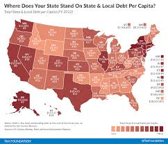 Alaska On Us Map by Where Does Your State Stand On State U0026 Local Debt Per Capita