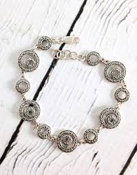 link bracelet silver images Sterling silver and marcasite circle link bracelet silver in the jpg