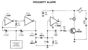 proximity alarm circuit diagram project alarms u0026 security