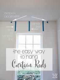 Installing Curtain Rod Hanging Curtain Rod Lesmurs Info