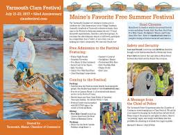 brochure yarmouth clam festival a maine summertime tradition