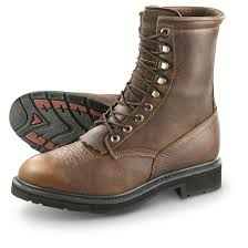 brown leather moto boots guide gear men u0027s 9