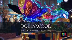 dollywood christmas lights 2017 dollywood parade of many colors 2017 youtube