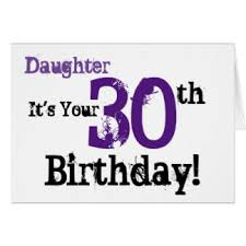 30th birthday for a daughter cards u0026 invitations zazzle co uk