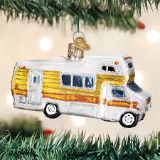 classic motorhome ornament glass ornaments by world