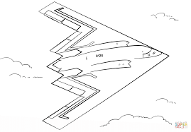 b 2 stealth bomber coloring page free printable coloring pages