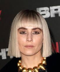 blunt cut bob hairstyle photos noomi rapace short straight formal bob hairstyle with blunt cut