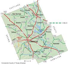 Texas State Park Map by Comanche County The Handbook Of Texas Online Texas State