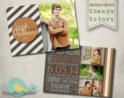 senior graduation invitations graduation announcement photoshop template senior graduation
