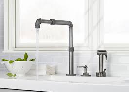 style kitchen faucets industrial style kitchens with watermark elan vital kitchen