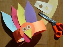 paper crafts for gobble gobble turkey hat for thanksgiving