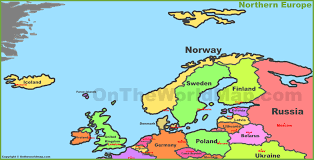 Scandinavia On Map Geoatlas Continental Maps Scandinavia And Northern Europe For Map