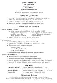 example medical resume