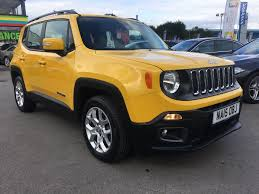 jeep cherokee yellow used jeep renegade yellow for sale motors co uk