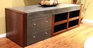 concrete wood table top concrete and wood furniture concrete entertainment center by