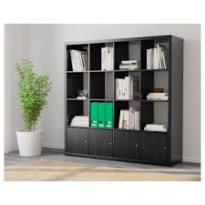 Ikea Shelving Units by Kallax Shelf Unit With 4 Inserts Black Brown Ikea