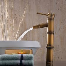 Cheap Bathroom Faucets by Best Bathroom Faucets With Antique Brass Finish Bamboo Shape