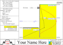Shoring Design Spreadsheet Supportit For Sheet Pile And Soldier Pile Retaining Walls Cofferdams