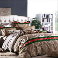 gucci bed sheets satin bedding set new hq white classic king queen bedroom luxury box