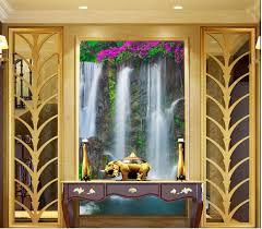 online get cheap wall mural 3d hallway aliexpress com alibaba group 3d wall murals wallpaper landscape waterfall entrance hallway mural photo mural wallpaper home decoration china