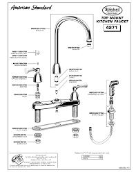 american standard kitchen faucet parts diagram amazing repair american standard kitchen faucet on kitchen on