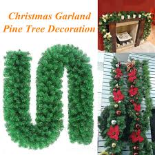 christmas garland 2 7m christmas garland pine wreath thick mantel fireplace