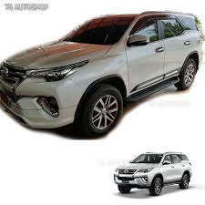 fortuner fitt chrome side doors cladding moulding trims guards toyota