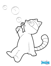 raccoon blowing bubbles coloring pages hellokids com
