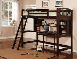 wooden loft bunk bed with desk amazon com coaster 460063 co furniture piece capuccino finish