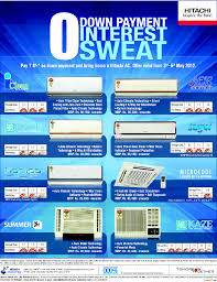 hitachi ac offers on air conditioners starts 3 may 2012 ends