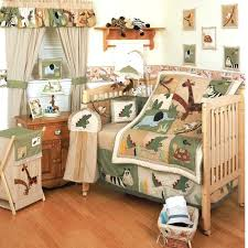 Jungle Themed Crib Bedding Jungle Theme Nursery Decor Zoo Animal Wall Decals Modern Woodland