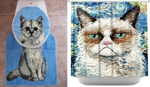 Crazy Shower Curtains Cats Shower Curtain Shower Curtain Rod