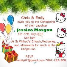hello kitty christening invitation template hello kitty