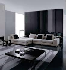 living room black and white living room design theme in modern