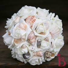 seashell bouquet seashell wedding flowers