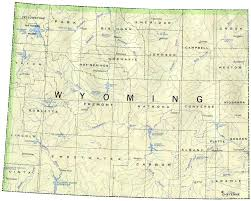 map of wyoming wyoming map map of wyoming