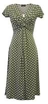 new slinky vtg ww2 land 1940s 1950s sage green polka dot