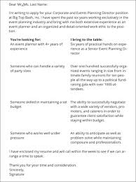 event planner cover letter event manager cover letter examples