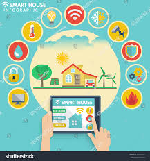 flat design icons set smart house stock vector 443036257