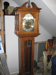 Hermle Grandfather Clock Grandfather Clock Emperor Black Cherry Missing 1 Part In Pendulum