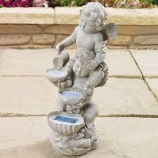 solar cherub garden ornament daily express