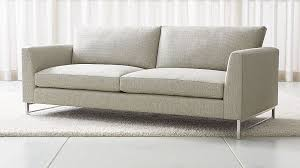 crate and barrel down filled sofa sofas couches and loveseats crate and barrel