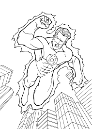 green lantern coloring pages kids printable free baby