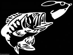 amazon com bass fishing spinner bait window vinyl decal sticker