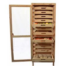 meuble garde manger cuisine garde manger légumier fruitier étage en pin masy 244 amazon