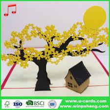 Chinese Birthday Invitation Card Handmade Luxury Chinese Regional Style Laser Cutting Mp3 Music And